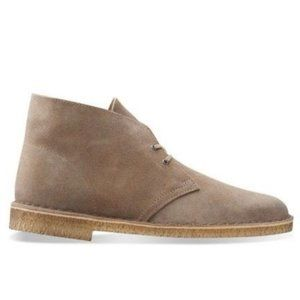 Clarks Original Chukka Desert Boots Taupe Brown Suede Lace Up Flat Heel 6M New